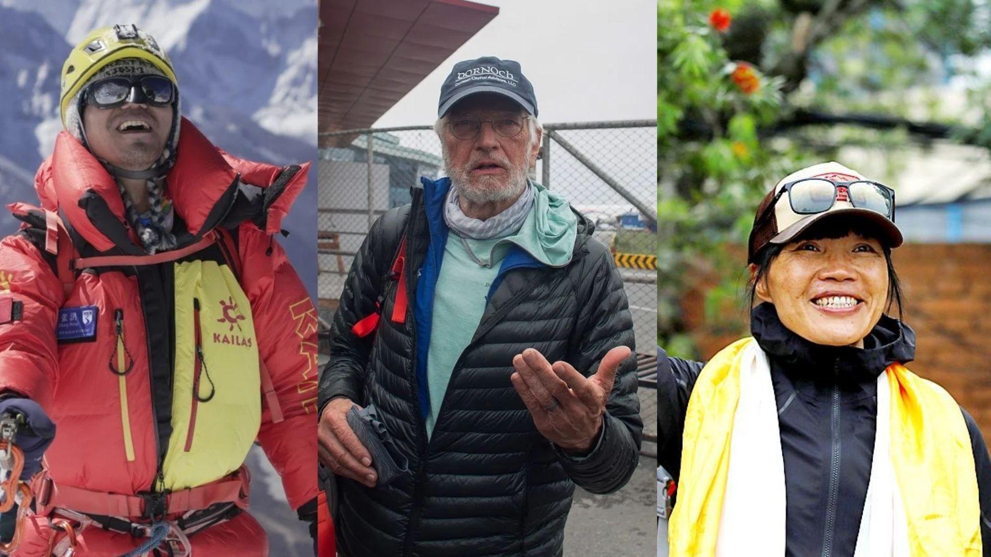 Blind man, oldest American, fastest woman reach Mt. Everest