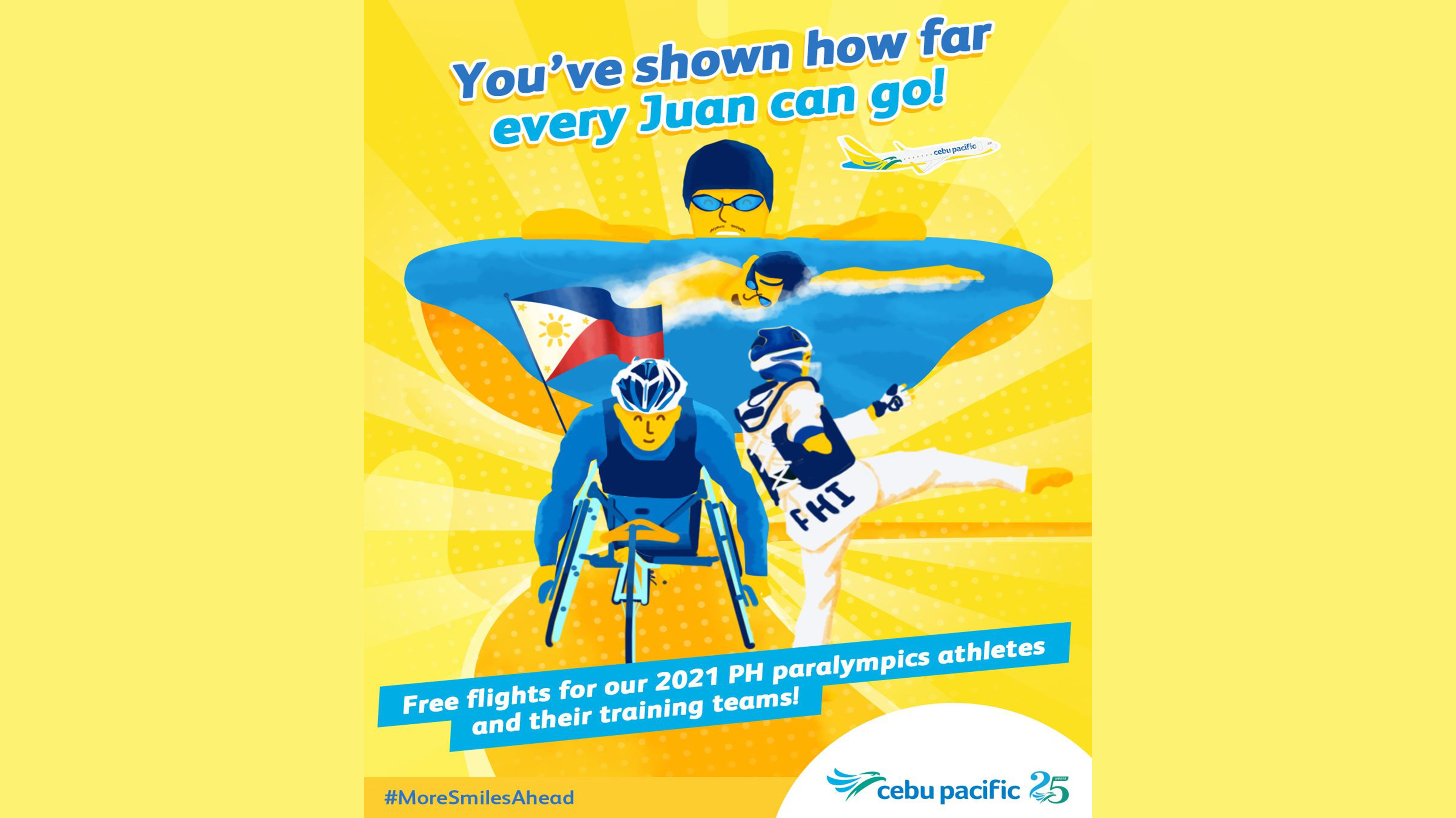 Show of gratitude; Cebu Pac gives free flights to Filipino Paralympic athletes photo from Cebu Pacific Air