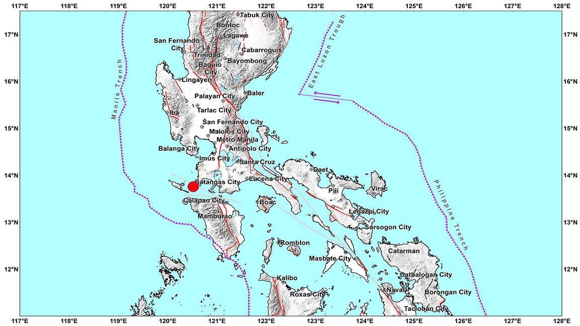Magnitude 6.6 quake hits Calabarzon, Metro Manila photo from Phivolcs