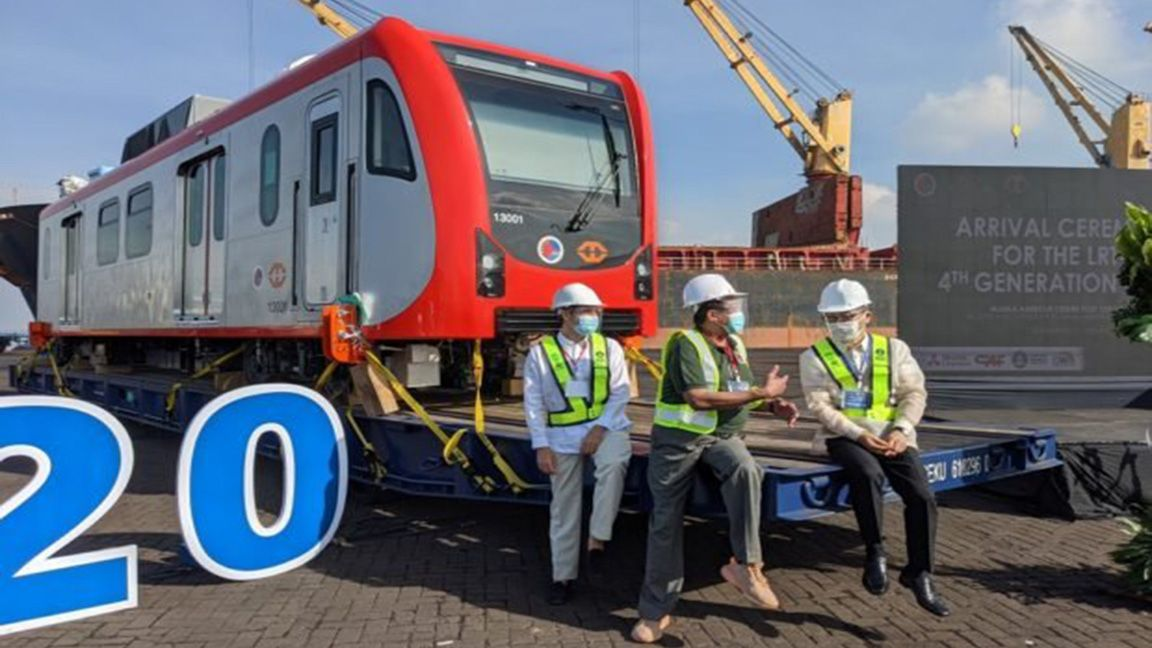 Faster, sleeker rides! New LRT-1 4th generation trains arrive photo Inquirer.net