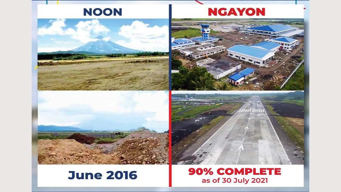 Flying high; Tugade says Bicol International Airport to open by yearend photo from Art Tugade