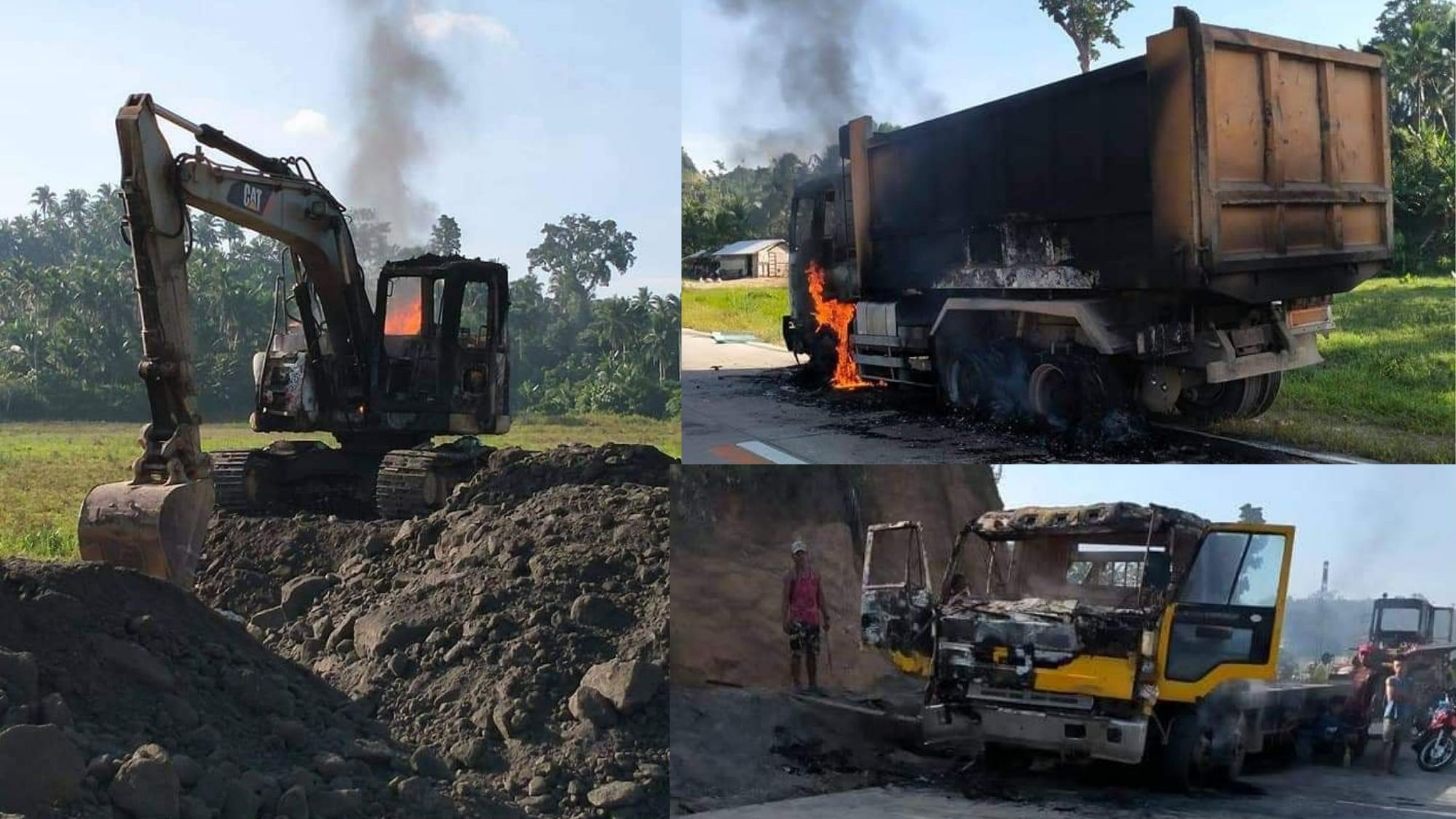 Hindrance to peace and progress; NPA rebels destroy P32-M heavy equipment in Samar town photo from Opinyon 8
