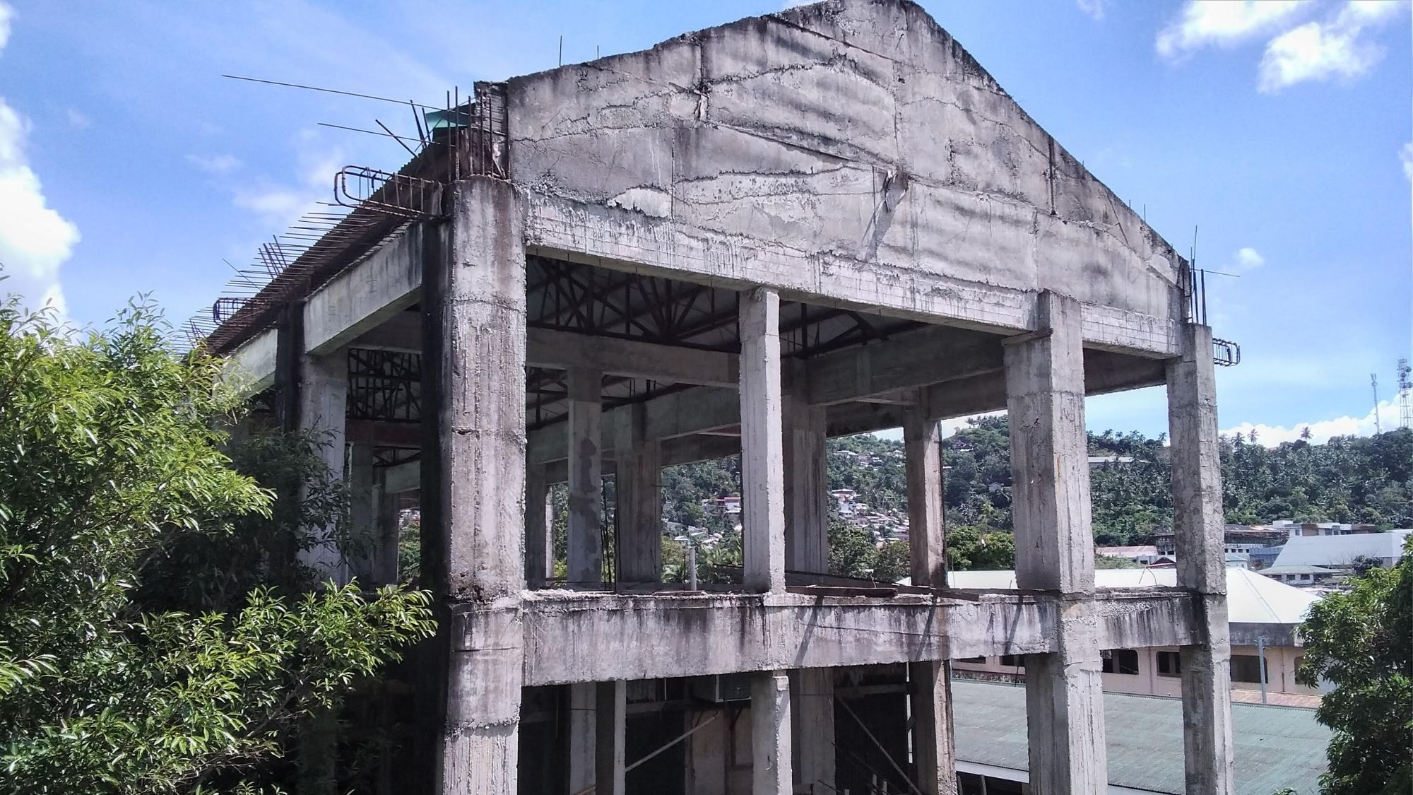 unfinished school building