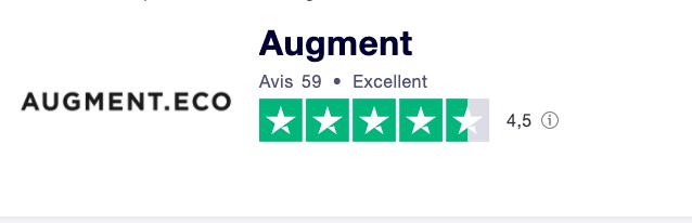 Augment Truspilot rating is super high.