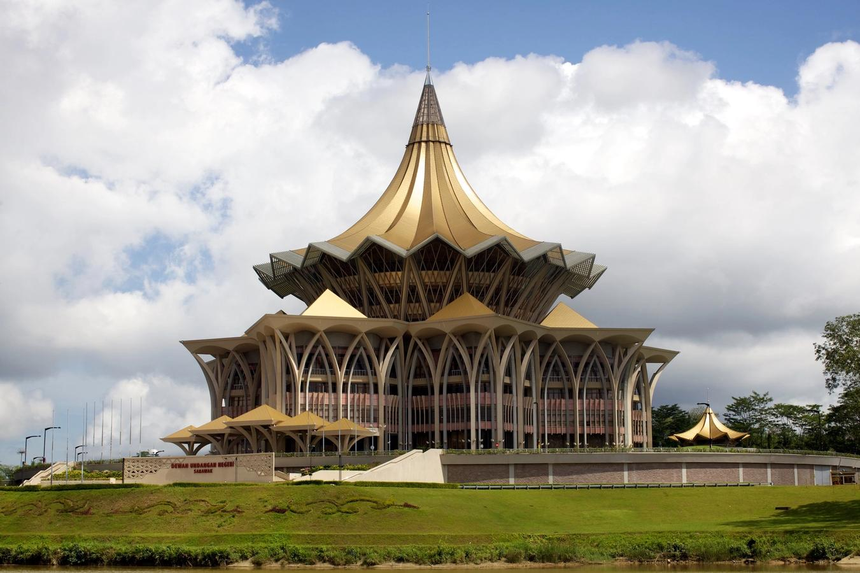 Sarawak State Legislative Assembly Building in Kuching, Malaysia
