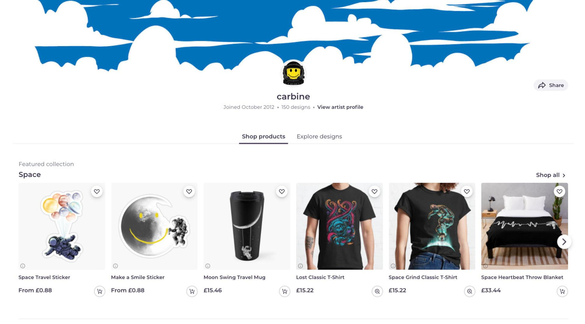 Example Redbubble Store