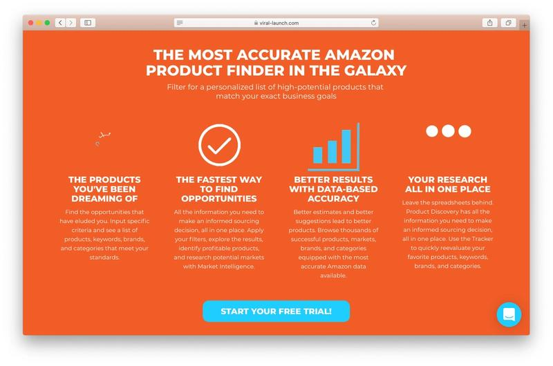 Viral Launch product finder