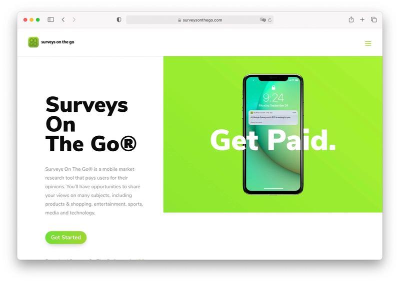 surveys on the go app