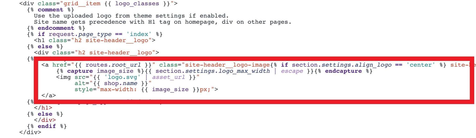Custom SVG logo loading code snippet
