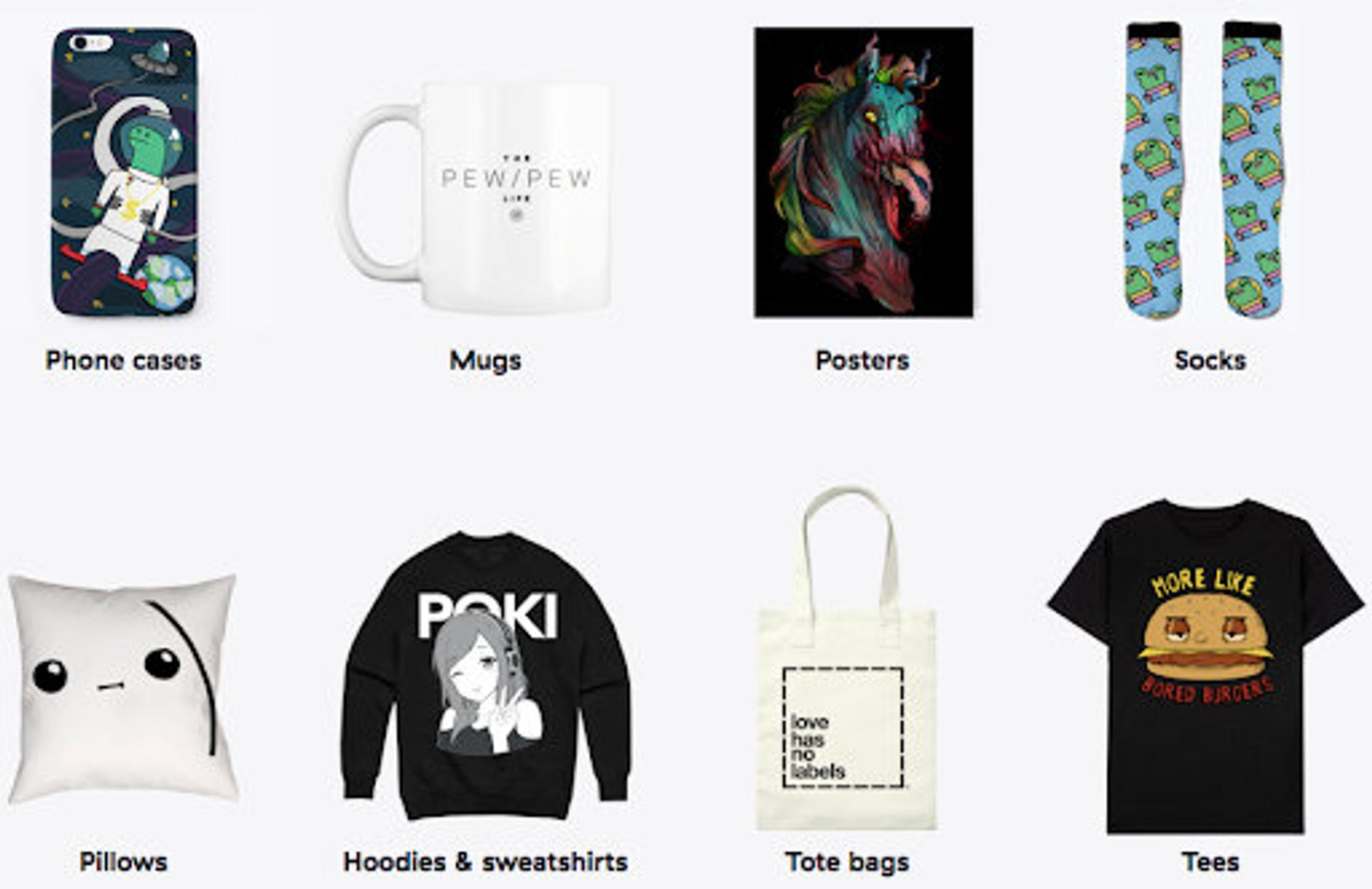 Teespring products
