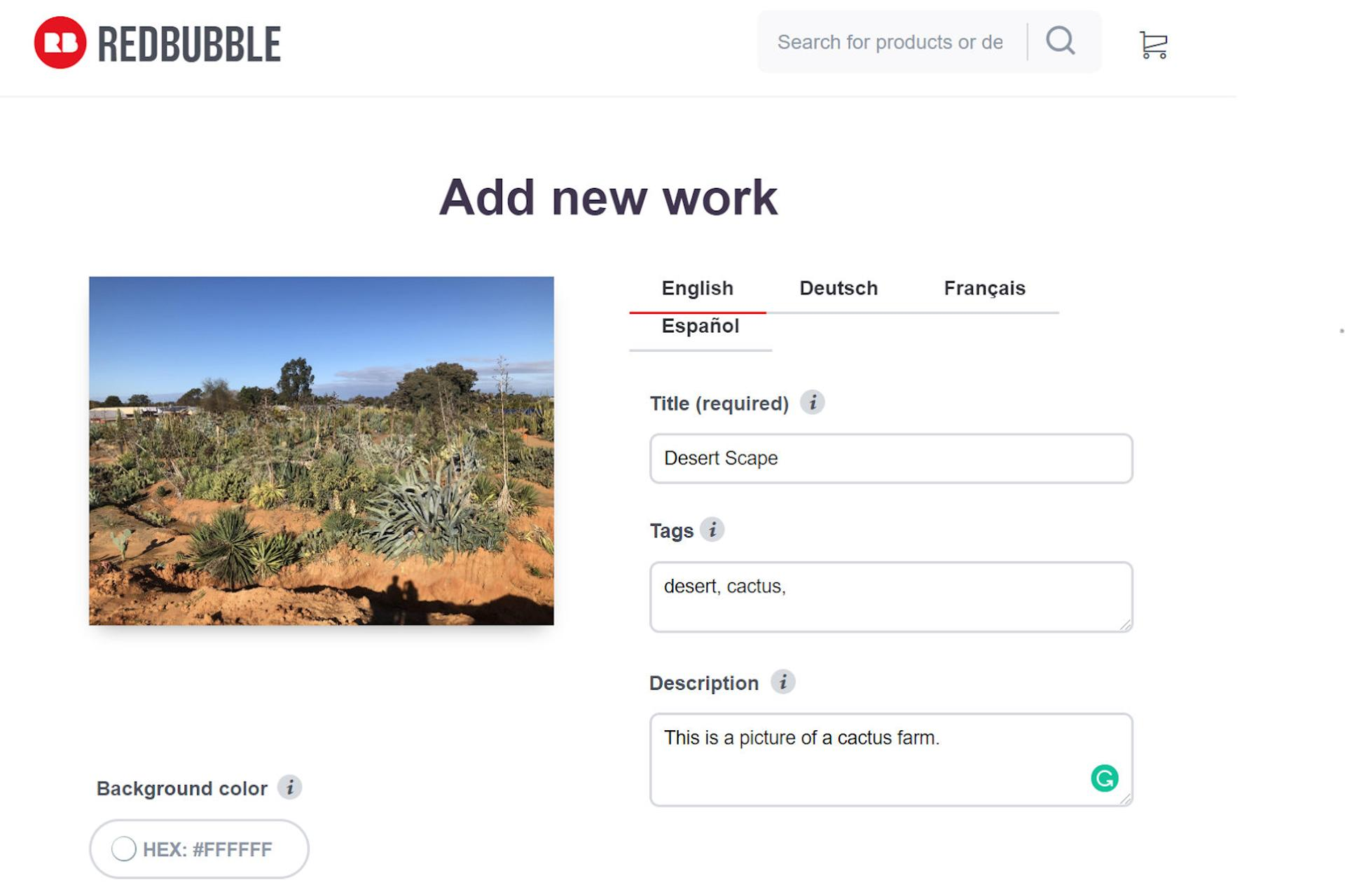 Redbubble Product Editor
