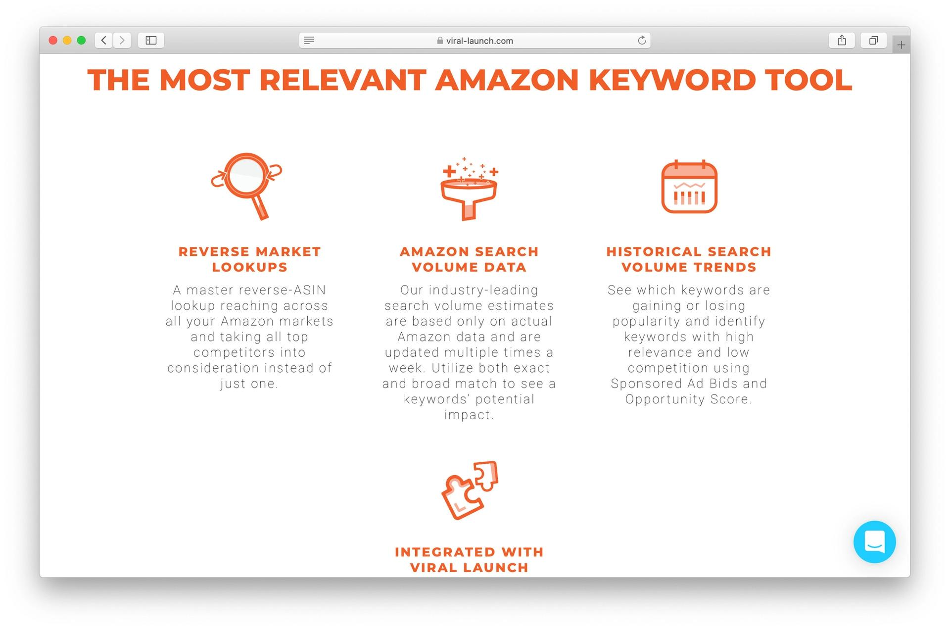 Viral Launch keyword research tool