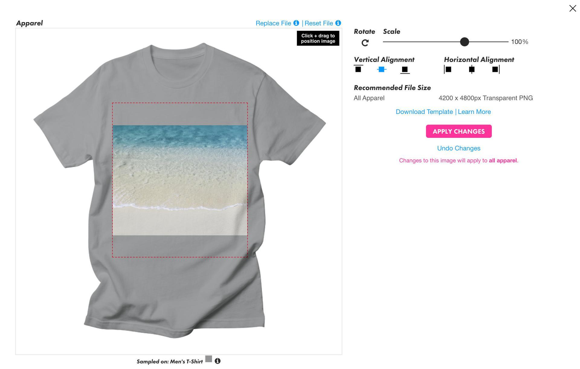 Threadless Shirt Editor