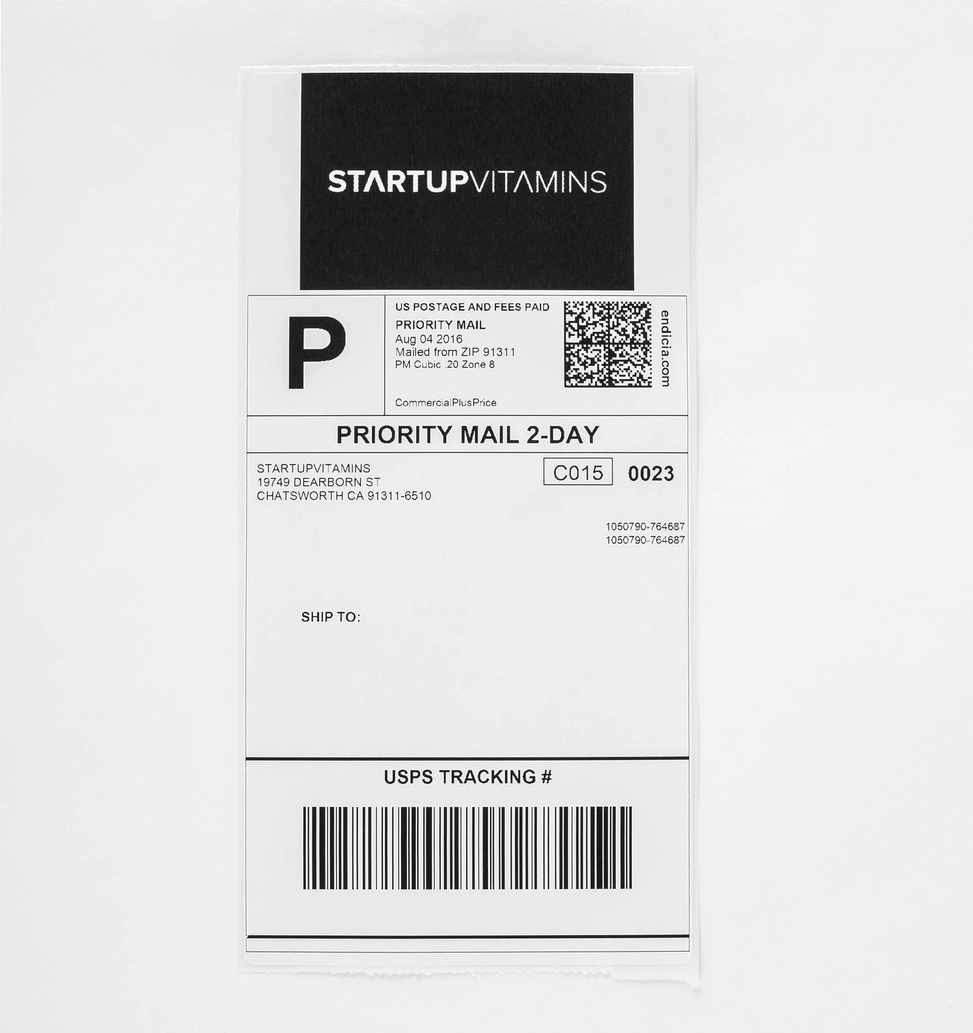 Printful branding on label