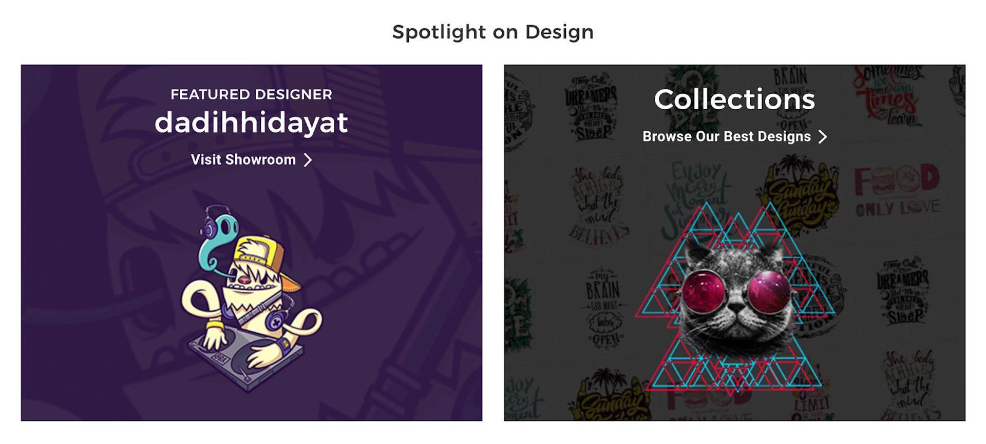 Spreadshirt featured designs