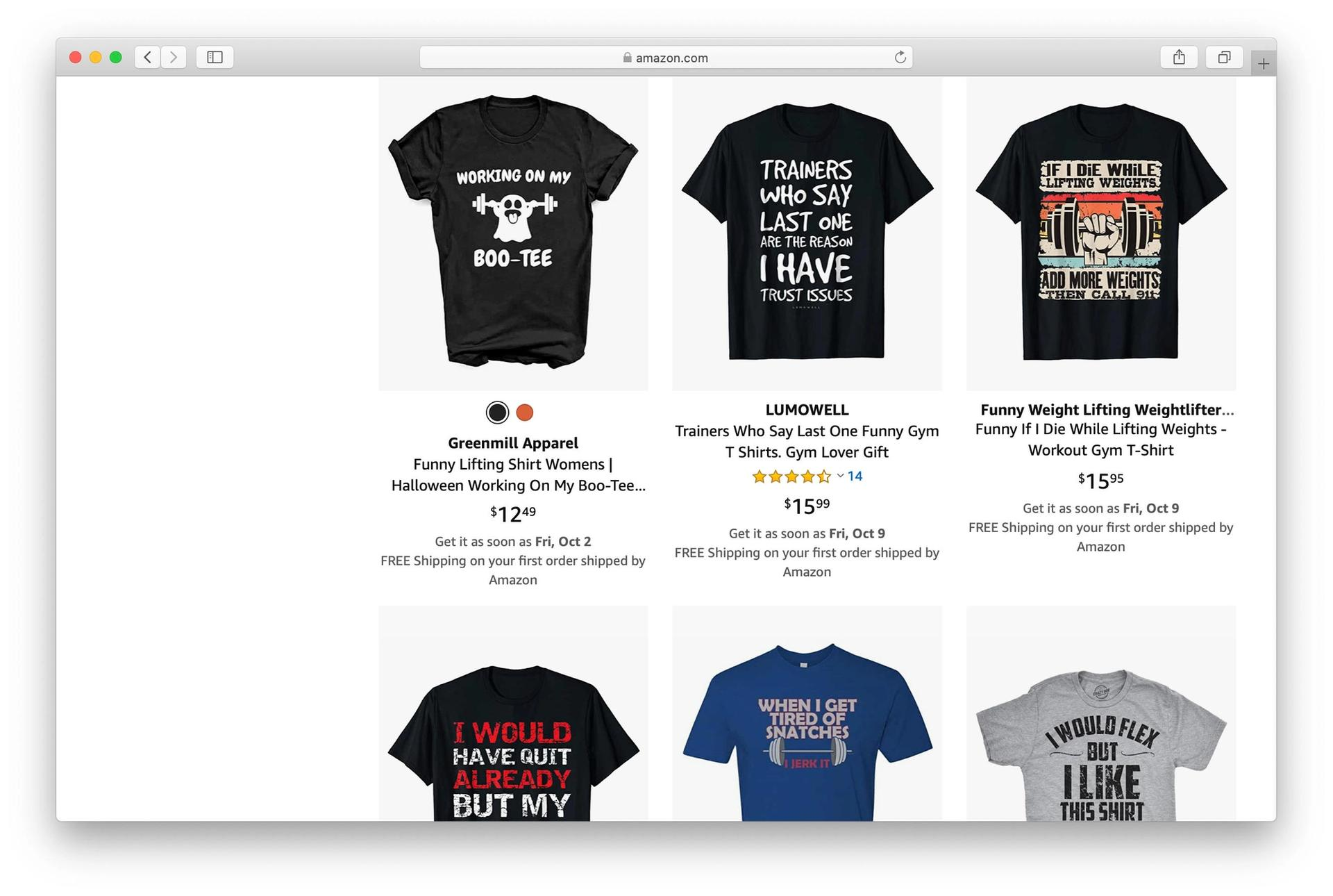 Funny t-shirt graphics on MBA