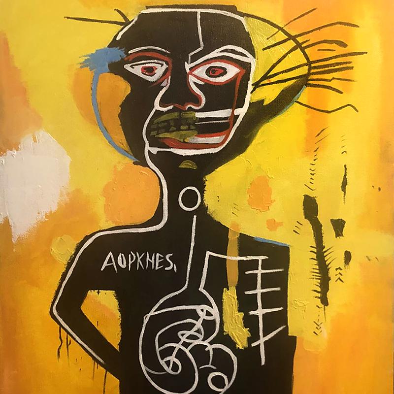 """Jean-Michel Basquiat """"Cabeza"""""""