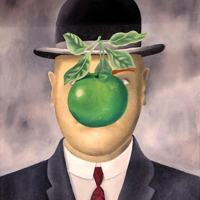 "Rene Magritte ""Son of Man"""