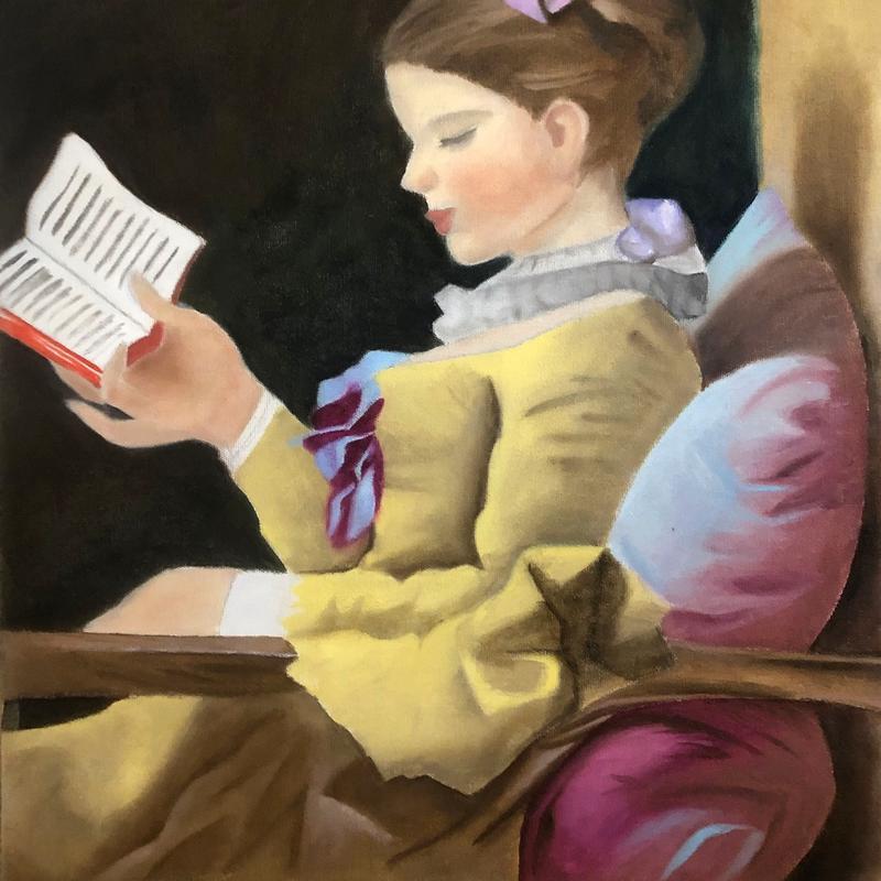 "Jean-Honore Fragonard ""The Reader"""