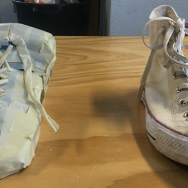 Shoes Out of Tape