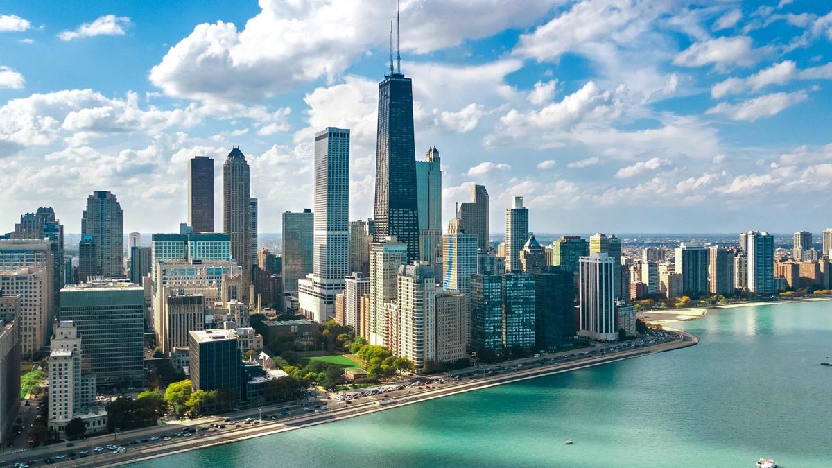 Chicago Lake Michigan shifting shorelines