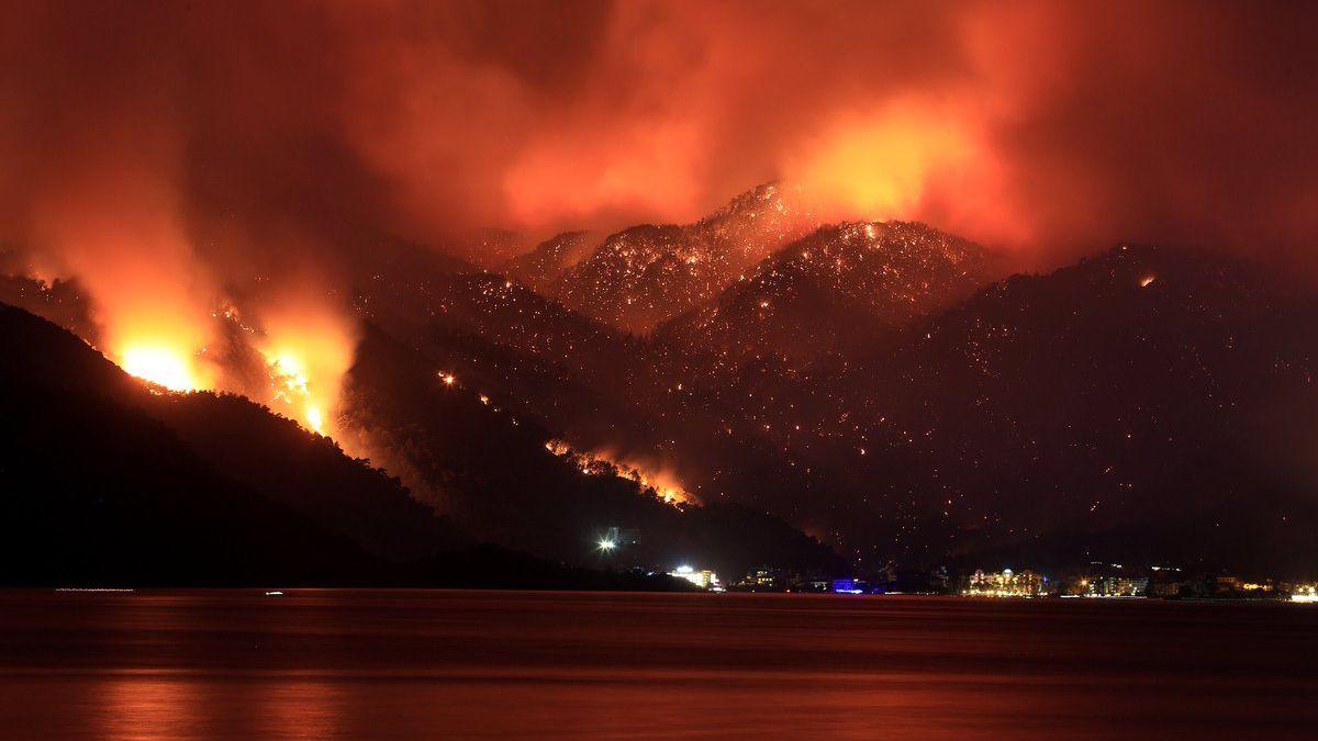 Wildfires in the Mediterranean