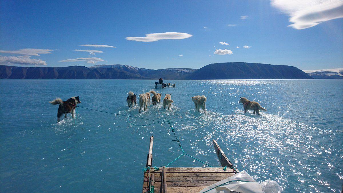 Greenland's melting ice sheets
