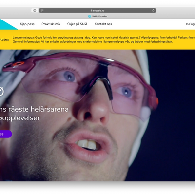 The Frontpage of the website.