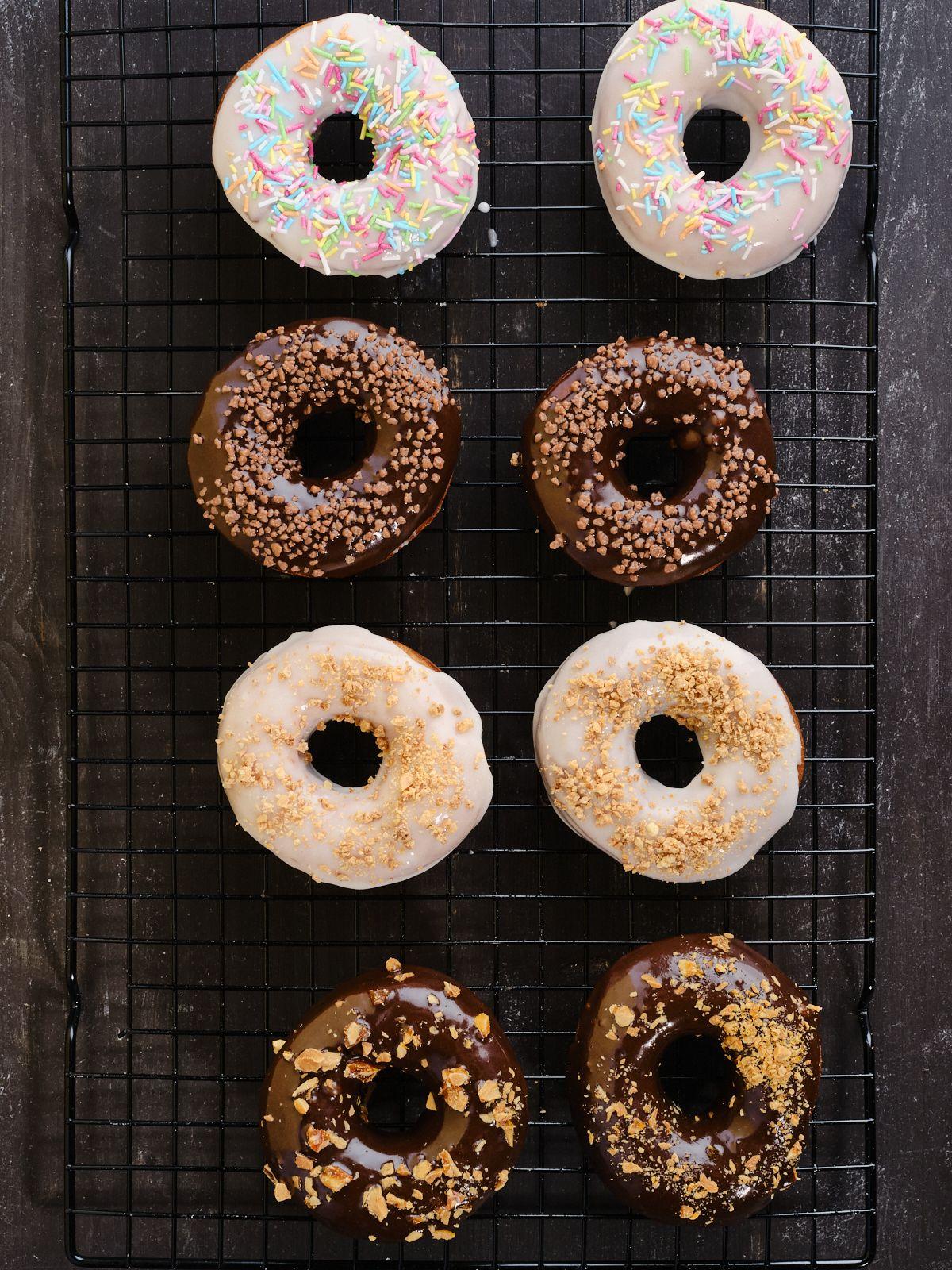 Doughnuts med glasur