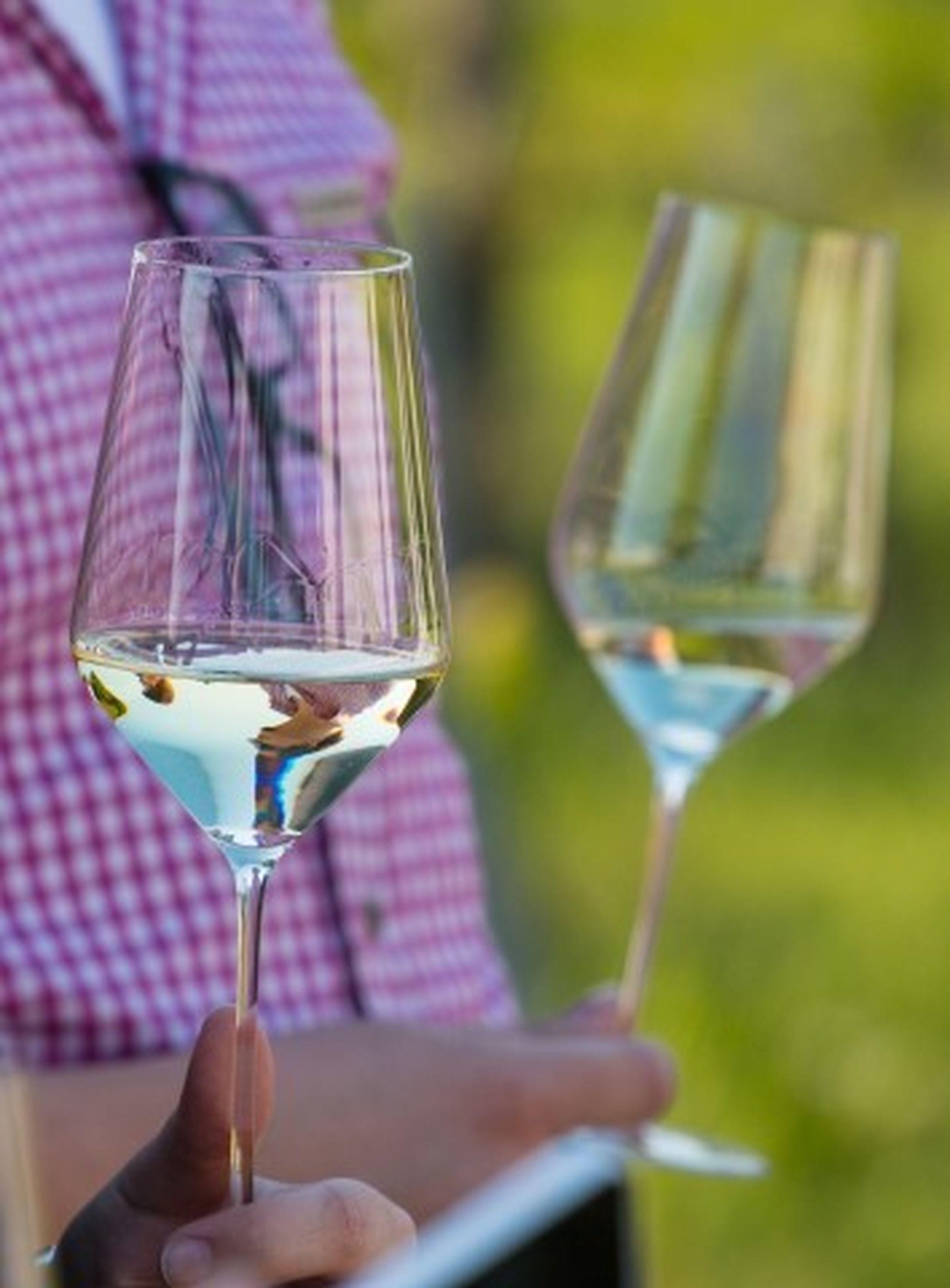 Hvitvin i glasset