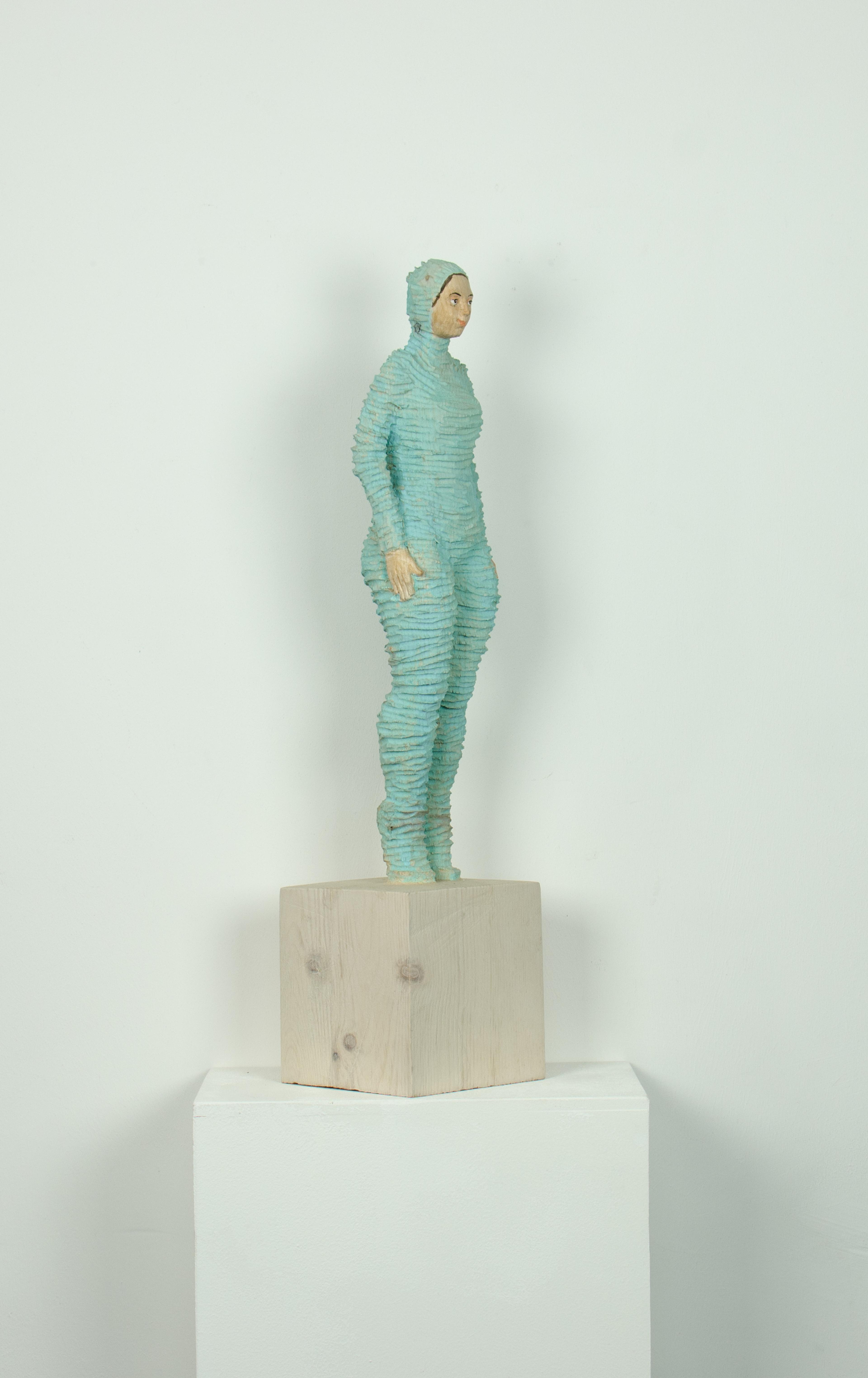 artwork umhüllt (türkis) by Isabel Ritter