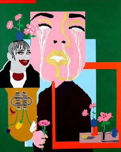Artwork Self Portrait with Carnation by Gidi Gilam
