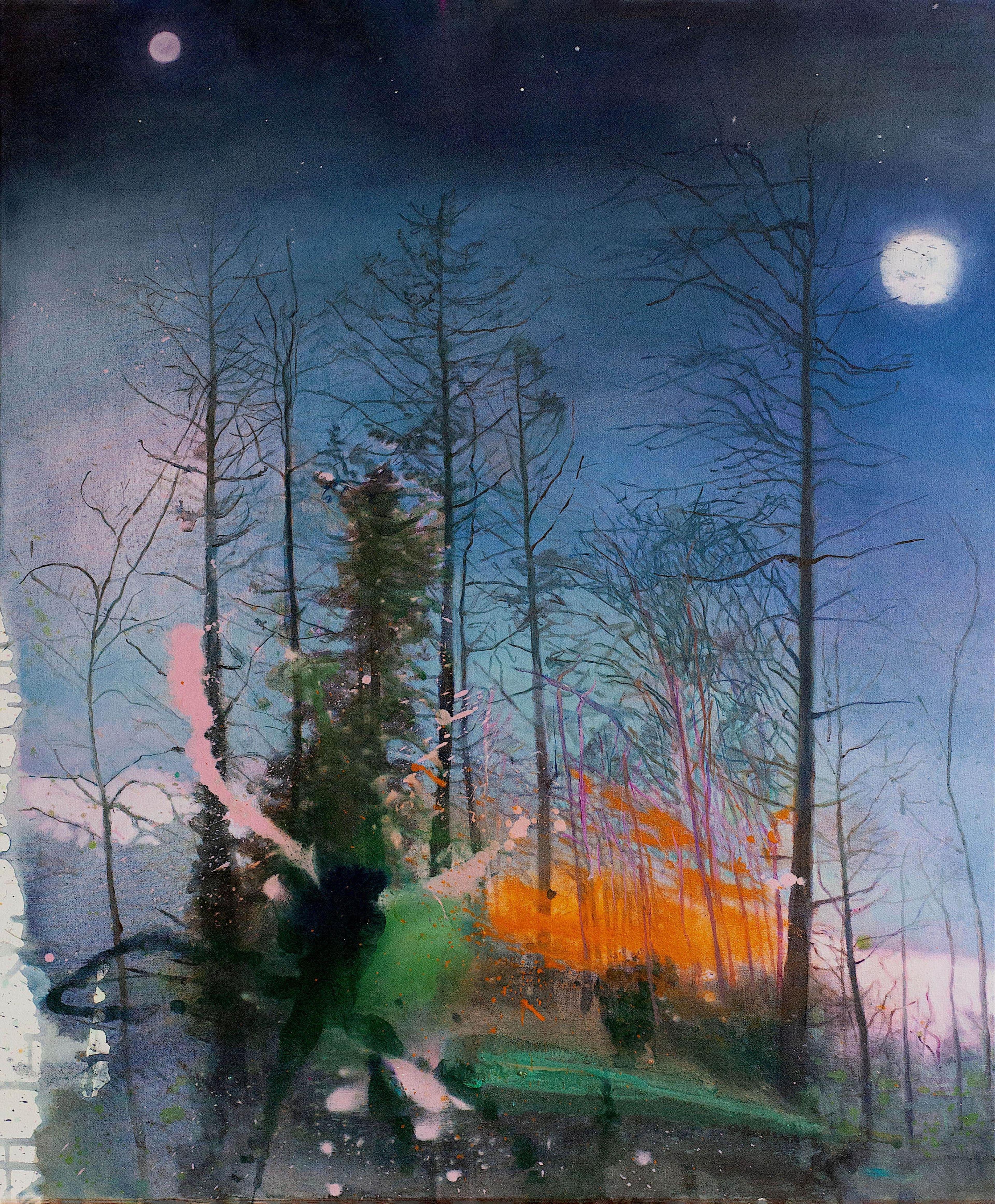 artwork Mondnacht by Birgit Klerch