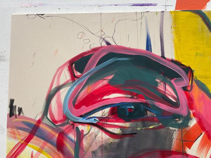 Detailaufnahme einer Arbeit von Joséphine Sagna