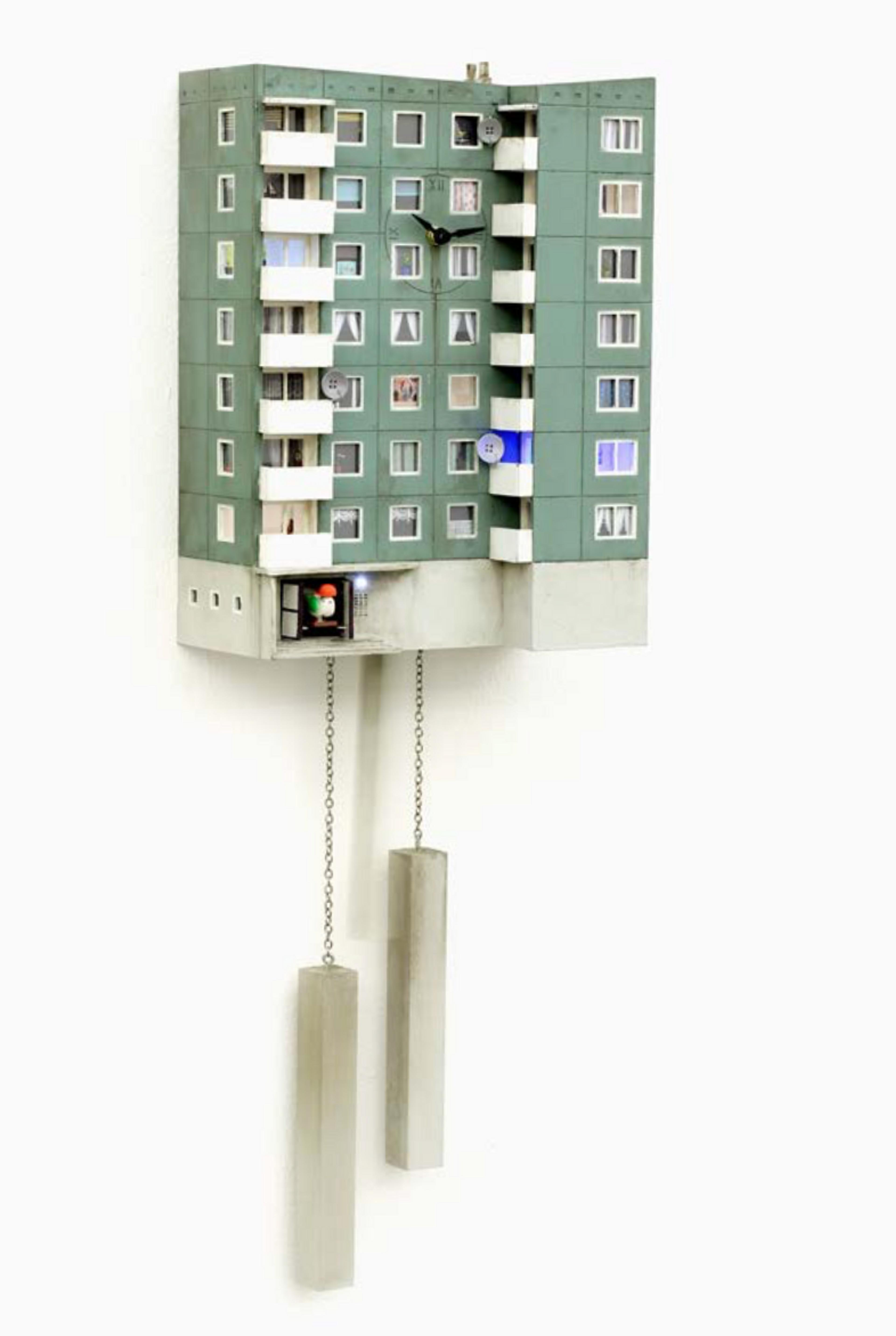artwork Cuckoo Block Hamburg by Guido Zimmermann