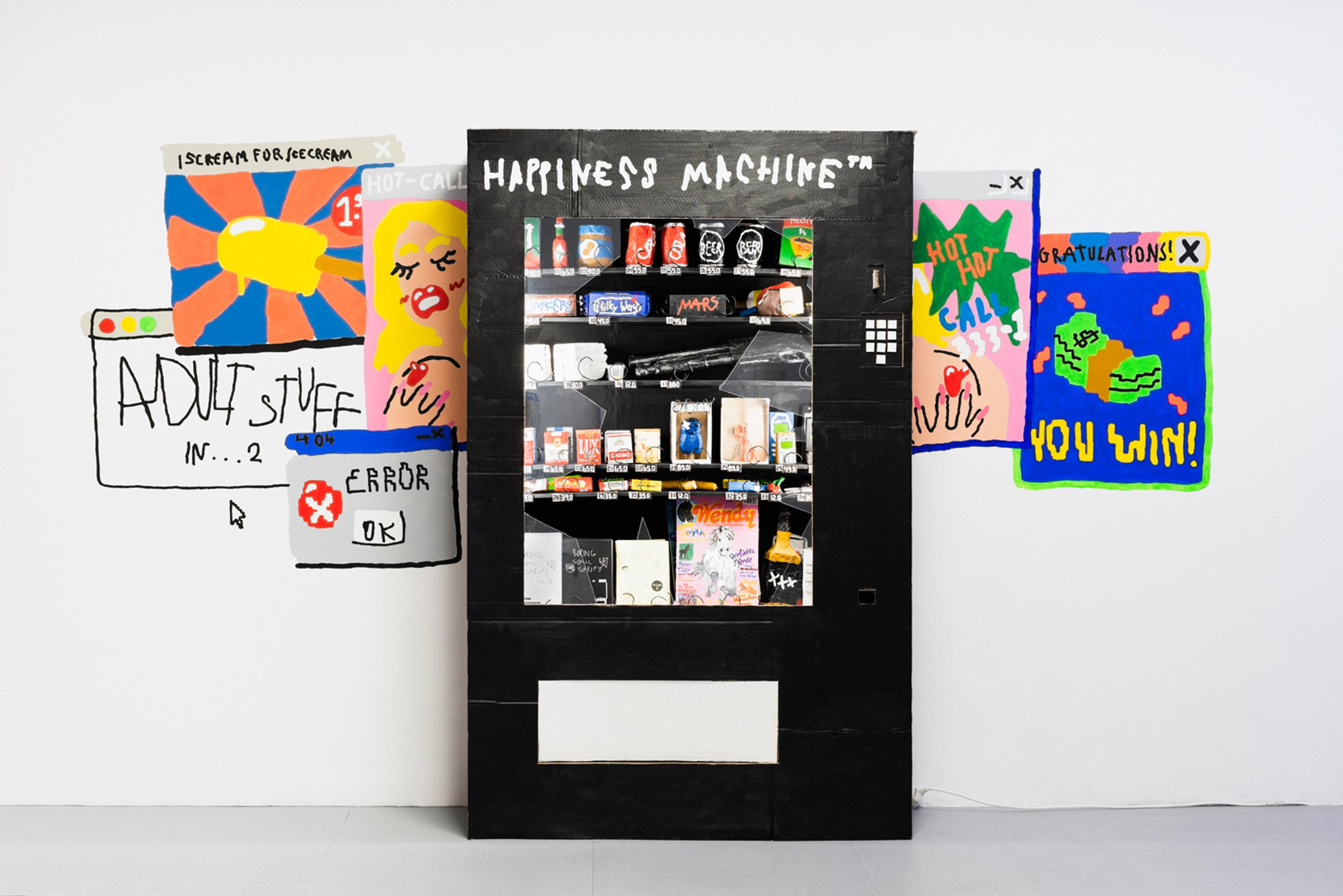 """artwork """"Happiness Machine"""" (Automat inkl. """"Produkte"""") by Animationseries2000"""