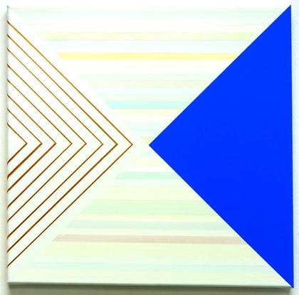 Artwork Blue and gold by Carla Bertone