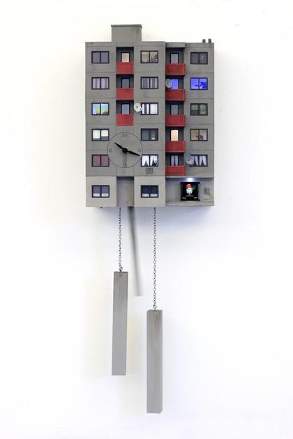 Artwork Cuckoo Block Frankfurt/Bonames by Guido Zimmermann