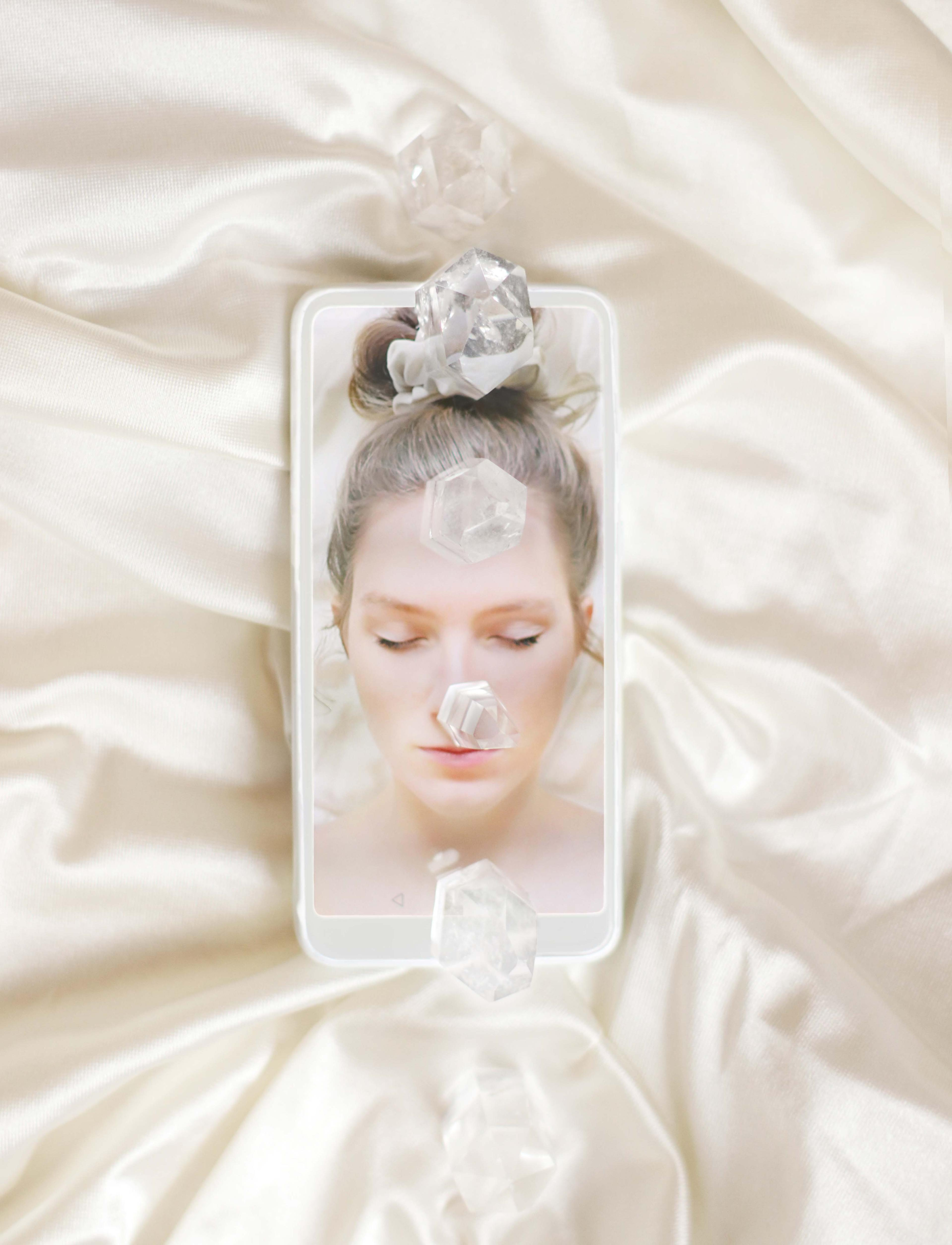 artwork Selfportrait with rock crystals by Franziska Ostermann