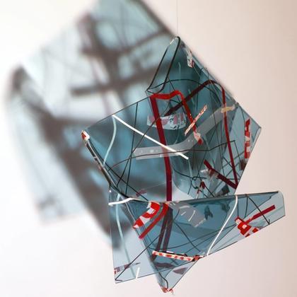 Artwork Raum_Zeit_Falte #1 by Gabriele Walter