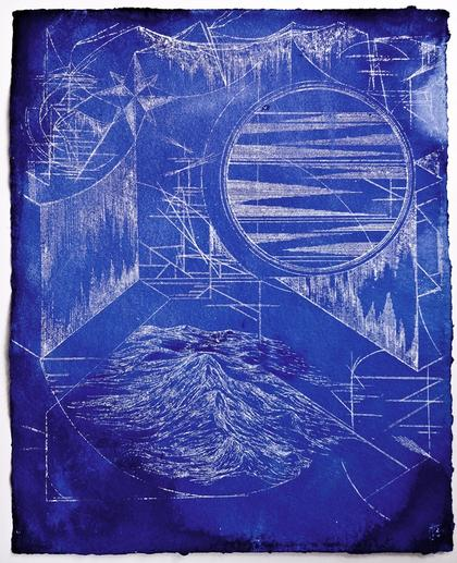 Artwork Nightwalk / deep blue 1 by Jana Schumacher
