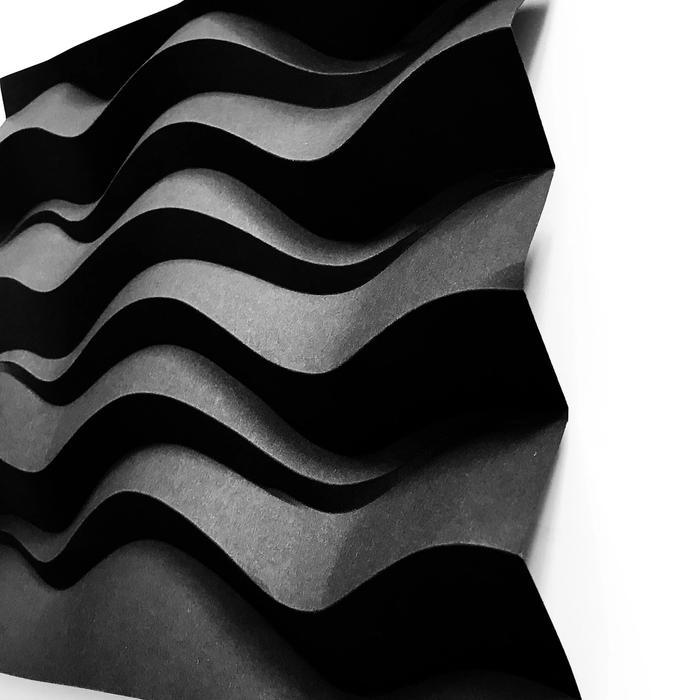 Black Waves Kaleida Creations details