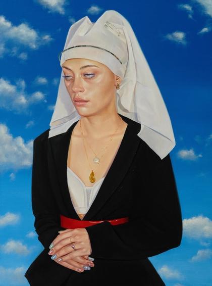 Artwork Portrait of an annoyed Lady by Roxanne Sauriol