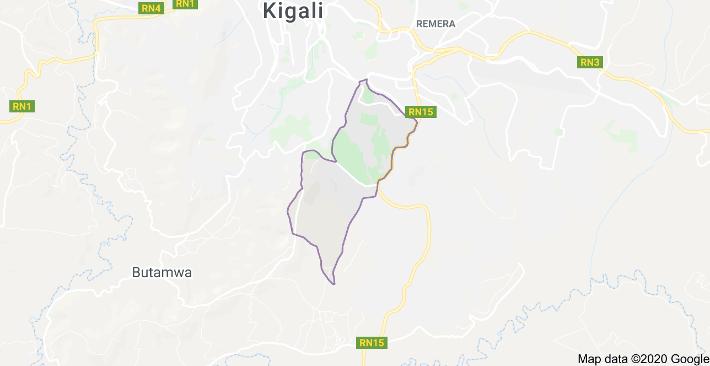 map of Kigali, Rwanda