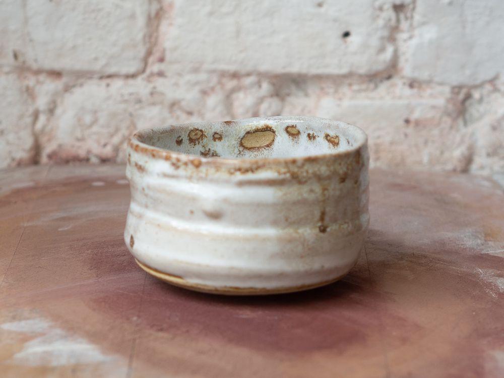 Inside white teabowl