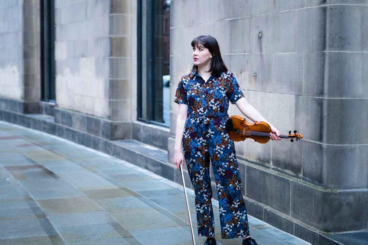 Mollie Wrafter, recipient of Irish Heritage's Music Bursary for Performance in 2019