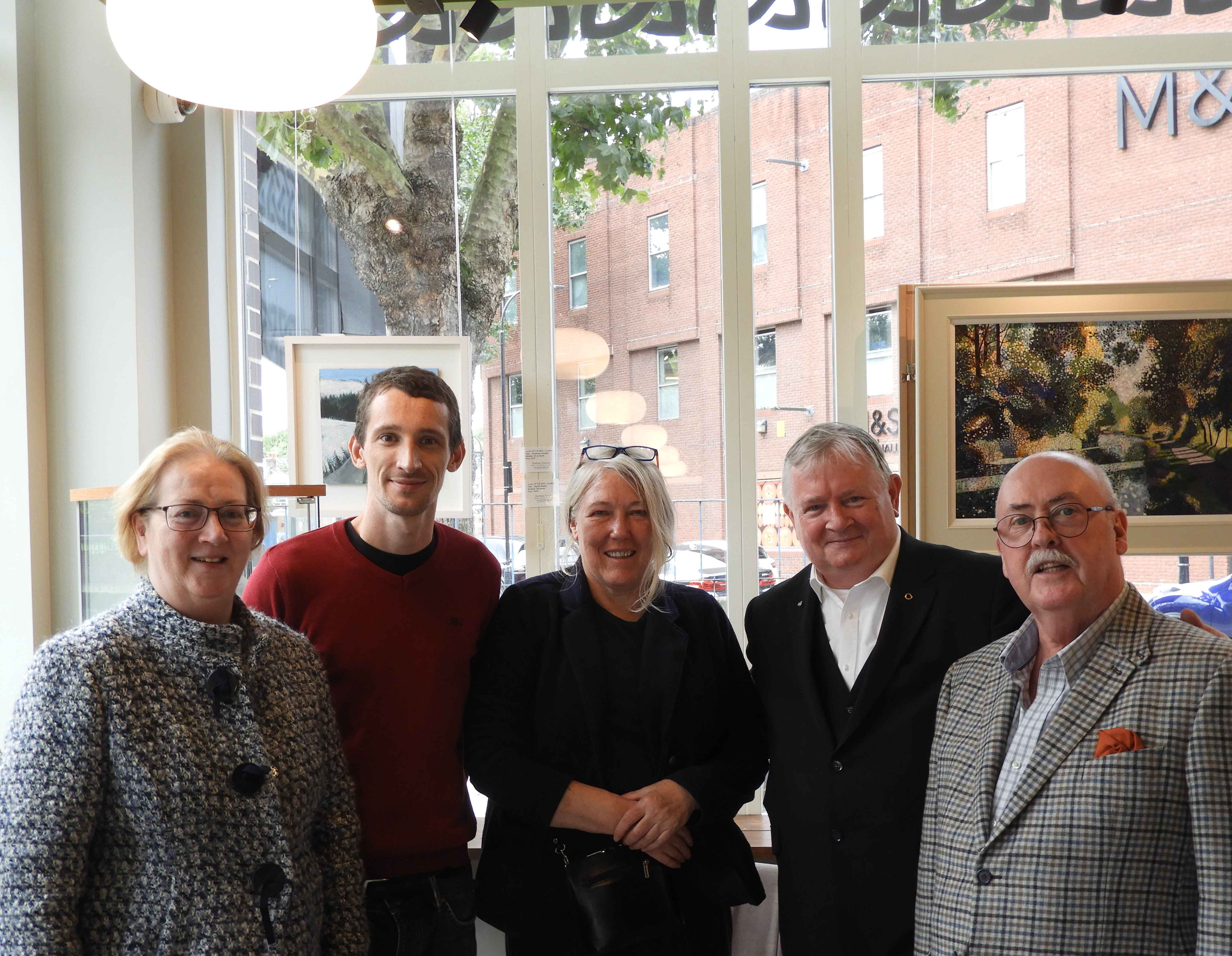 Irish Heritage Committee – Mary Connolly (trustee), Brian Hughes (artistic producer & previous IH bursary recipient), Margaret Parkinson (committee), Peter Power-Hynes (trustee I H and also chair of ICC) & Jim Kirby (chair-management committee - Irish Heritage).