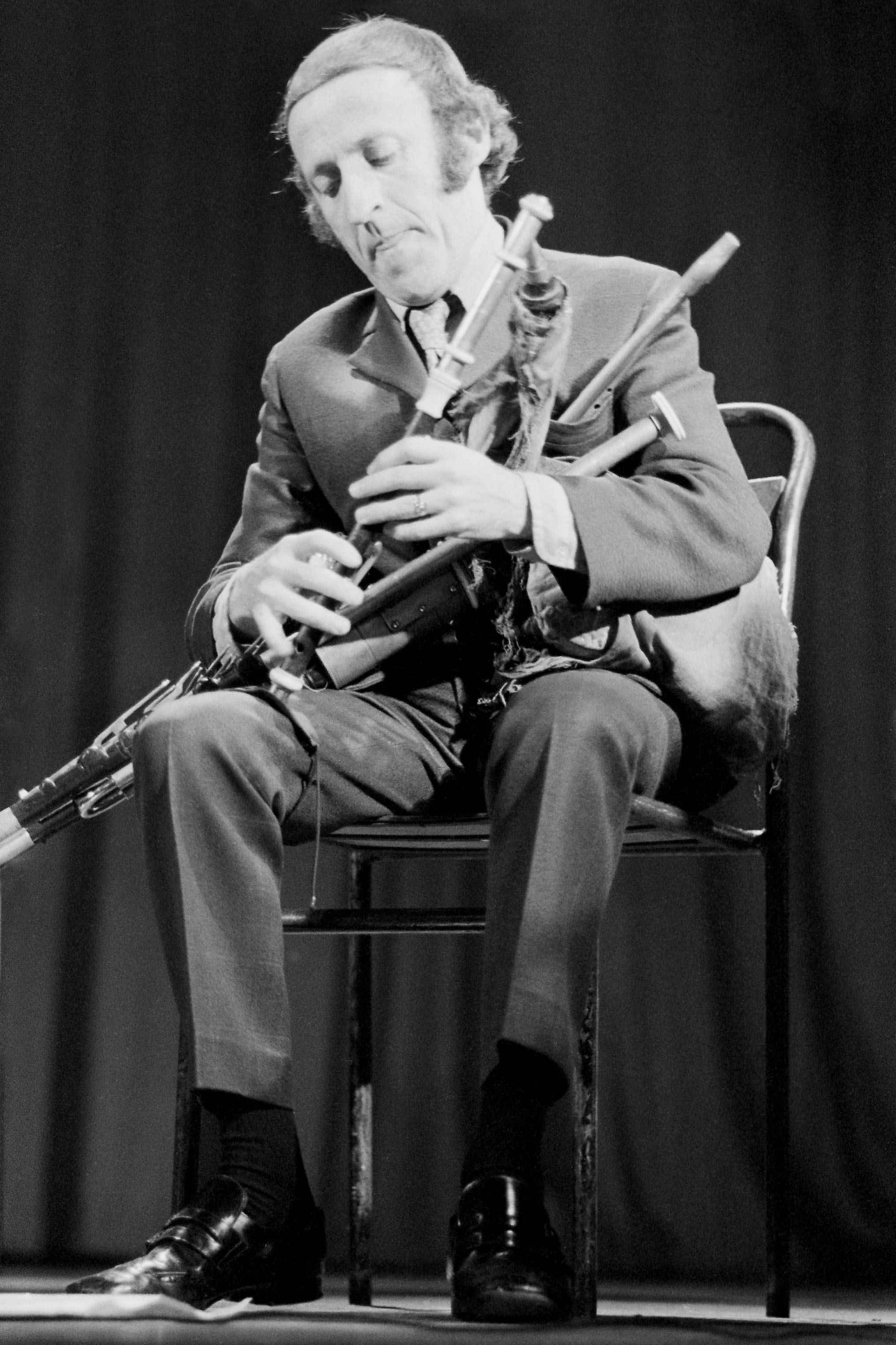 Paddy Moloney, a master of the uileann pipes