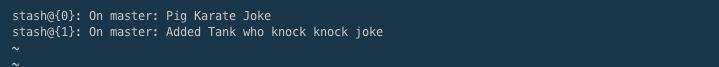 git status log within the Terminal