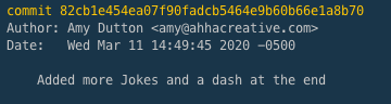 git log from the Terminal